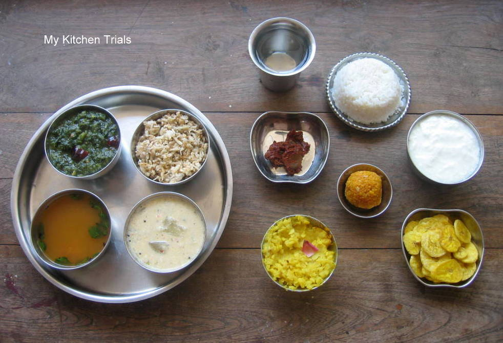 Simple south indian thali tamil nadu my kitchen trials recipe adapted from here forumfinder Image collections