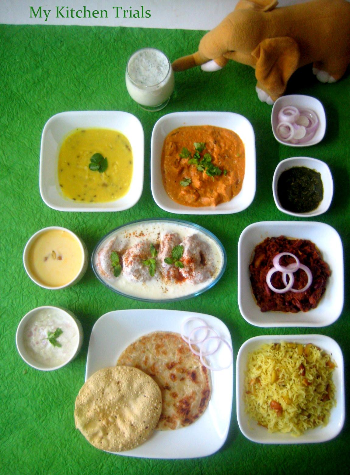 Punjabi thali my kitchen trials the forumfinder Gallery