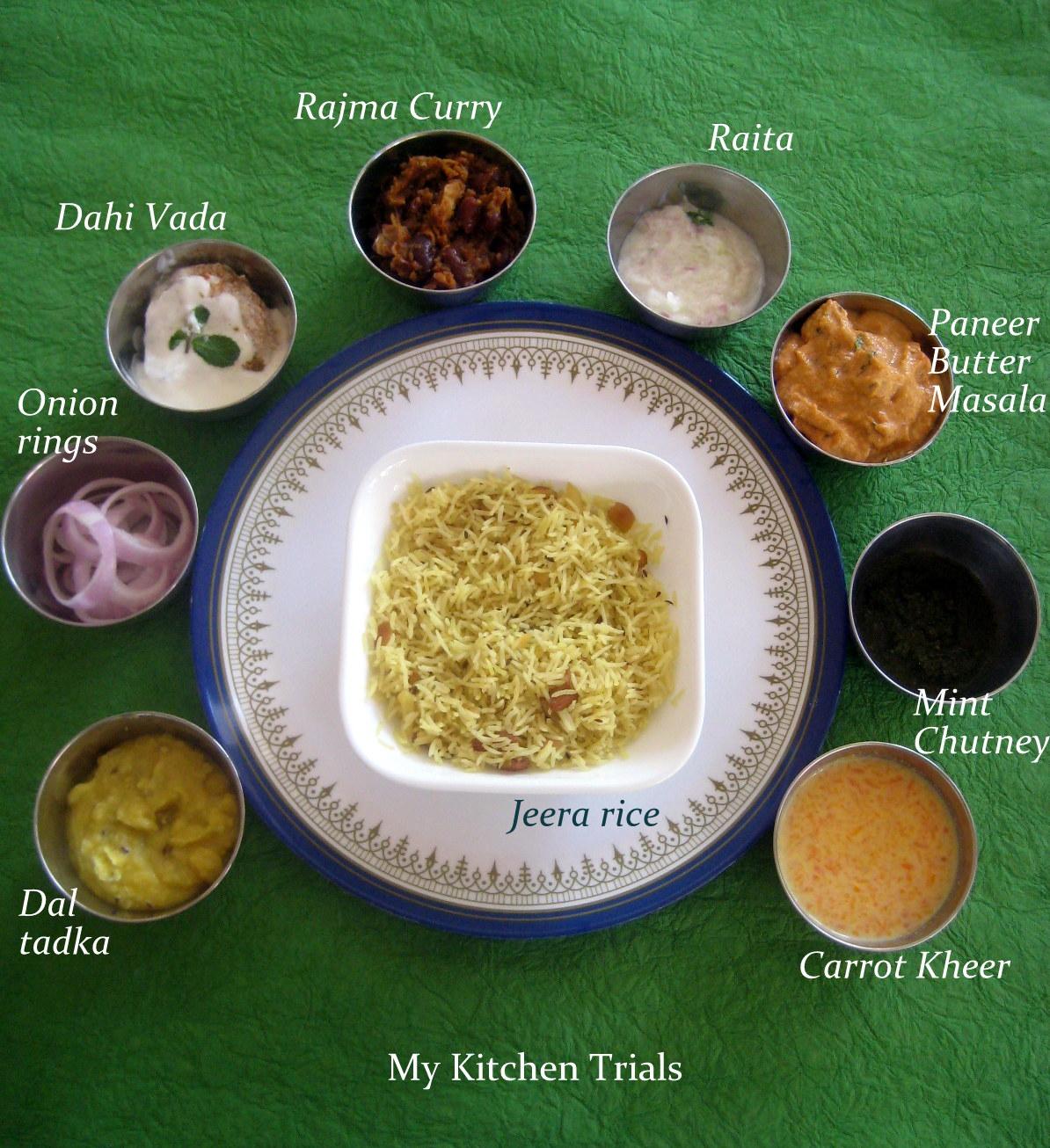 Punjabi thali my kitchen trials ingredients forumfinder Choice Image
