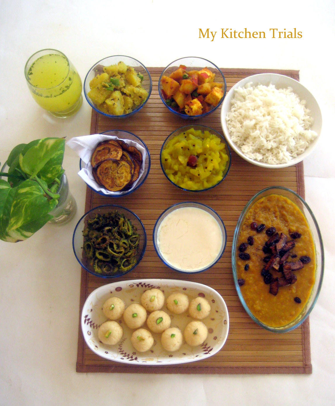 Bengali thali my kitchen trials bengali thali forumfinder Choice Image