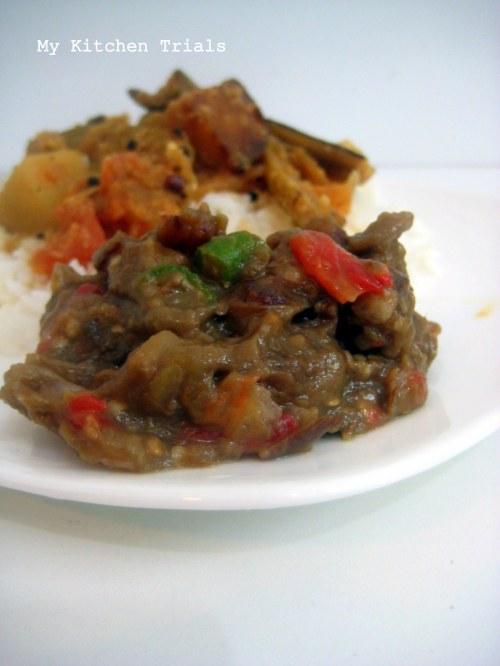 brinjal dates pachadi