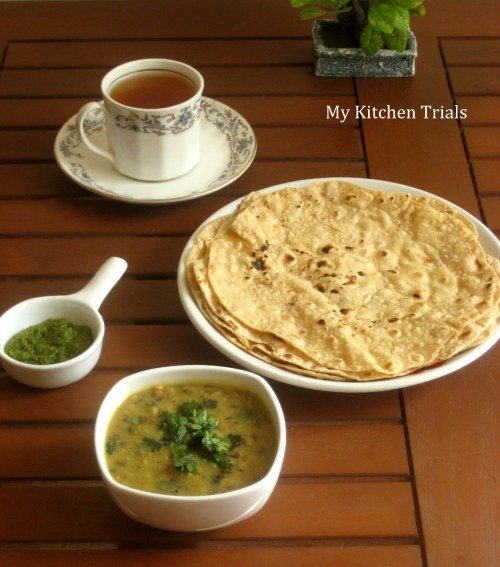 dal and fresh garlic chutney