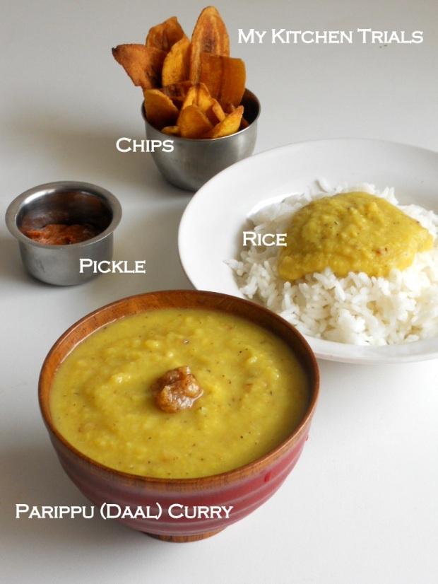 parippu curry - daal