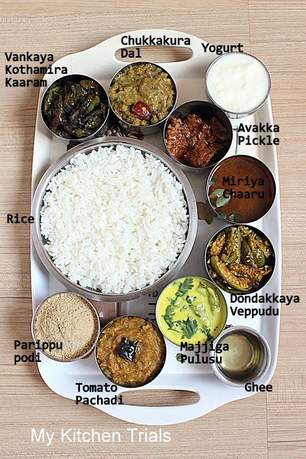 Andhra thali meals my kitchen trials andhra forumfinder Choice Image