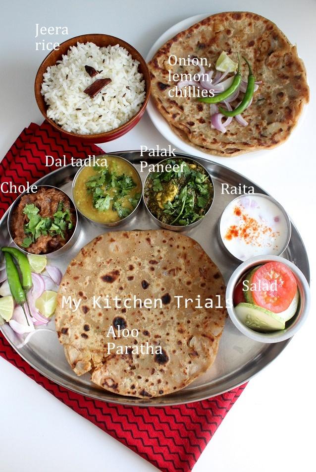 Punjabi thali palak paneer dal tadka chole aloo paratha jeera punjab 005 forumfinder Gallery
