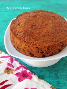 Eggless fruit cake 1