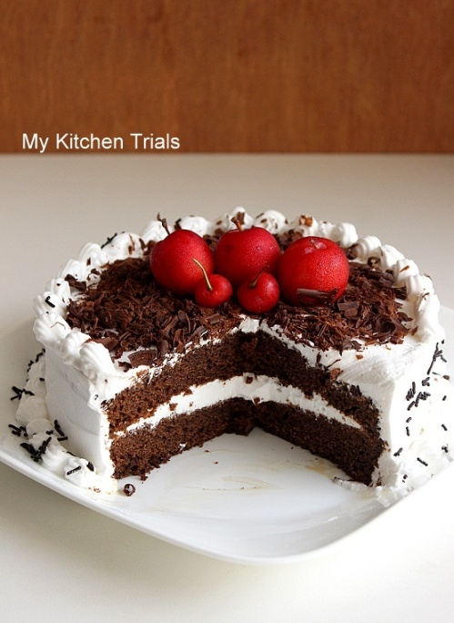 Black Forest-y cake