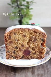 Eggless Fruit cake 2
