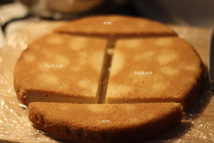 Sofa Cake Using Eggless Vanilla Cake My Kitchen Trials