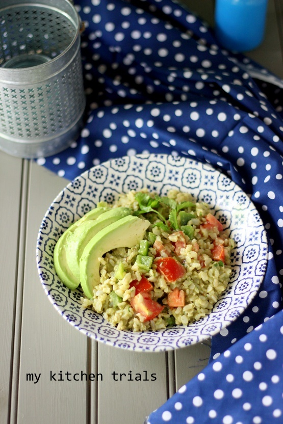 3brown rice salad