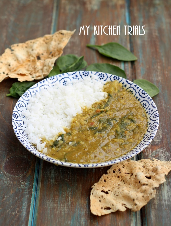 1spinach dal